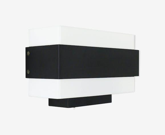 Applique murale minimaliste en noir et blanc NX 164 par Philips, années 1960