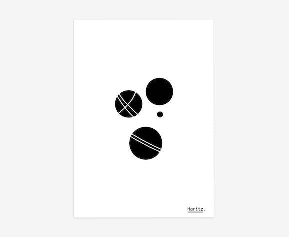 """Illustration, """"la pétanque"""""""