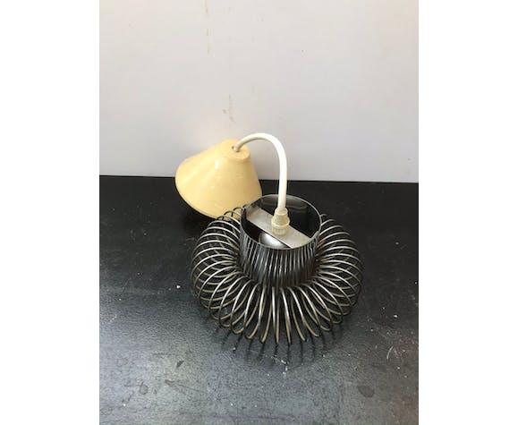 Suspension spirale métal chromé années 70