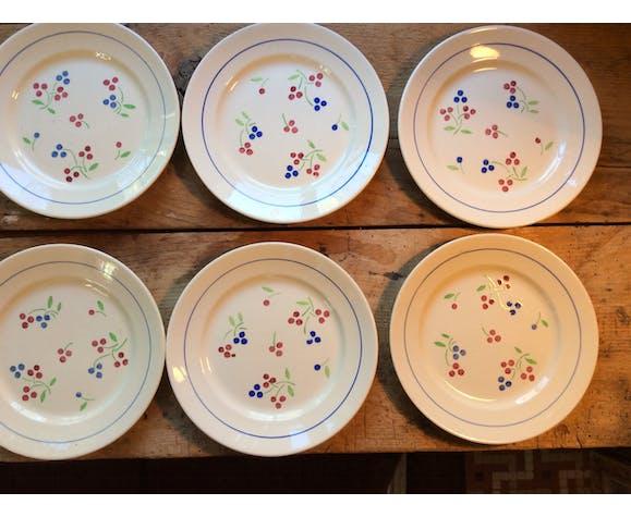 Ensemble de 9 assiettes et 9 assiettes à dessert Luneville