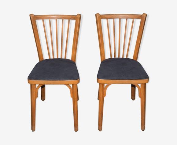Paire de chaises de bistrot vintage, années 50