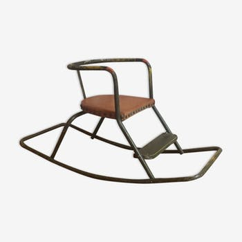 A vintage rocking chair