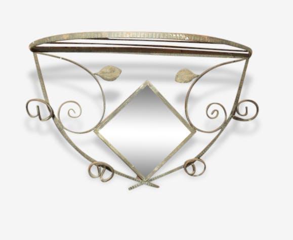 porte manteaux art d co fer forg miroir fer noir art d co 156262. Black Bedroom Furniture Sets. Home Design Ideas