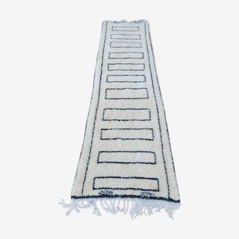 Beni ouarain handmade wool corridor rug 85x320 cm