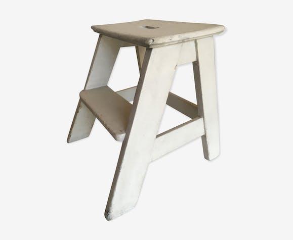 50s wooden stool stepladder