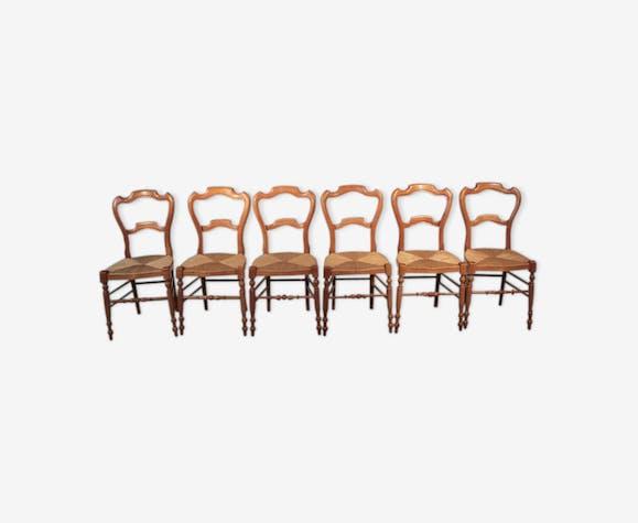Suite 6 Chaises Louis Philippe Xixe De Boismatériau Tl1KJcF