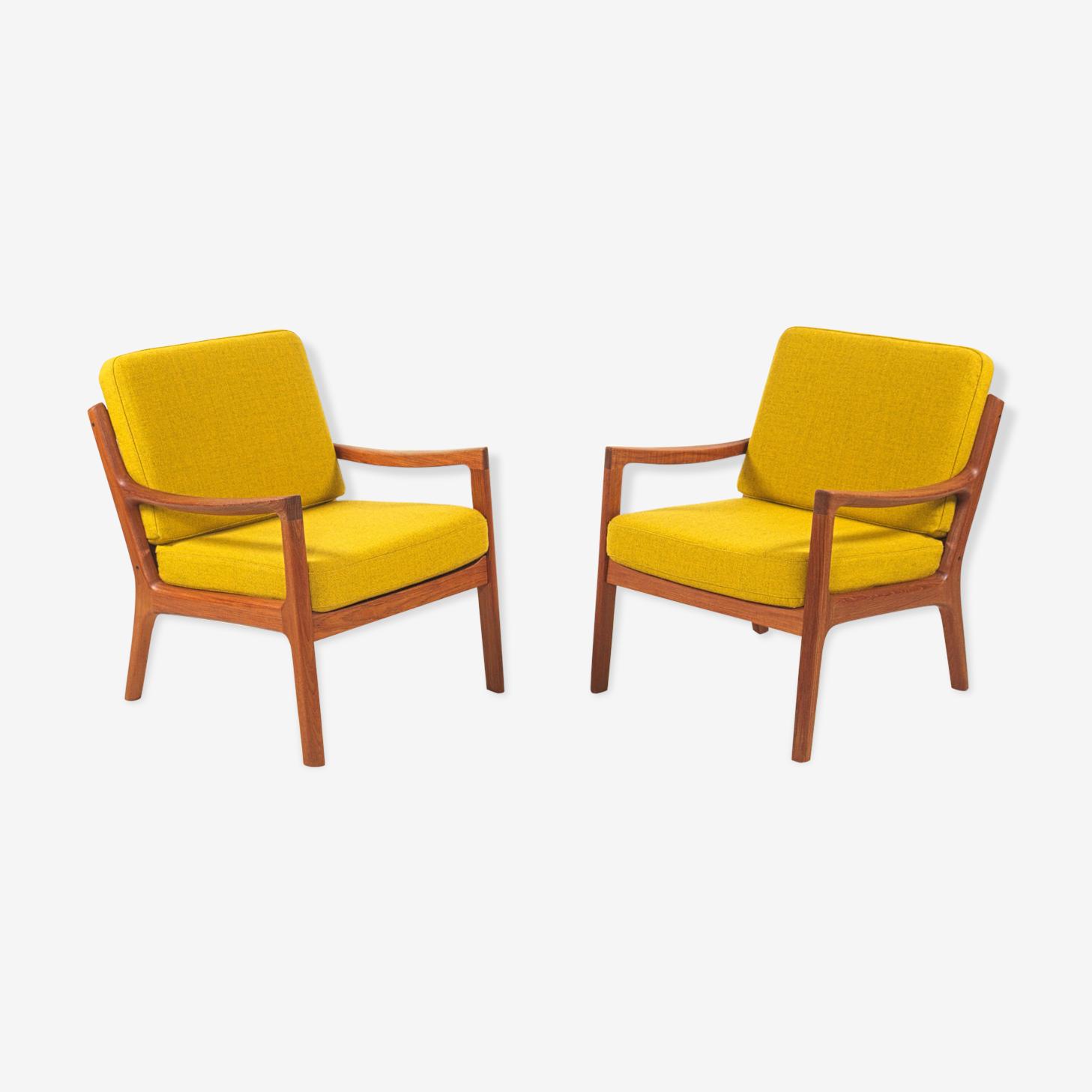Paire de fauteuils de Ole Wanscher pour Cado