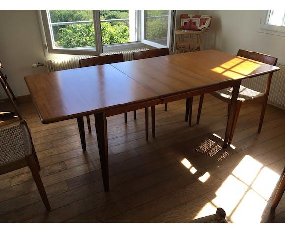 Table en teck des années 60
