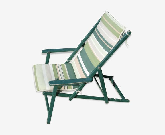 transat chaise longue tissu et bois pliant bois. Black Bedroom Furniture Sets. Home Design Ideas
