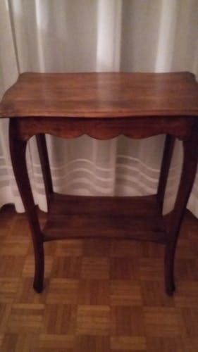 High wooden table