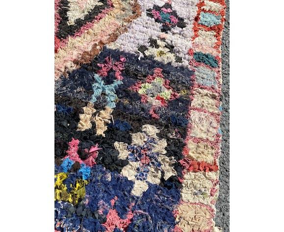 Tapis berbere boucherouite vintage 100x215 cm