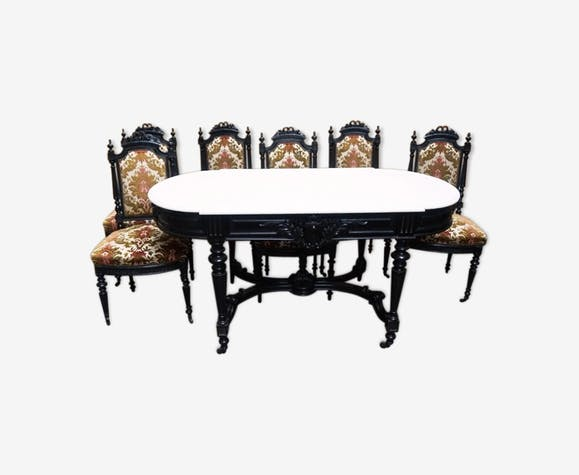Уnsemble - table + 6 chairs. Then Napoleon III.