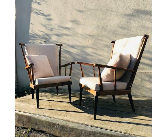 Paire de fauteuils vintage Baumann