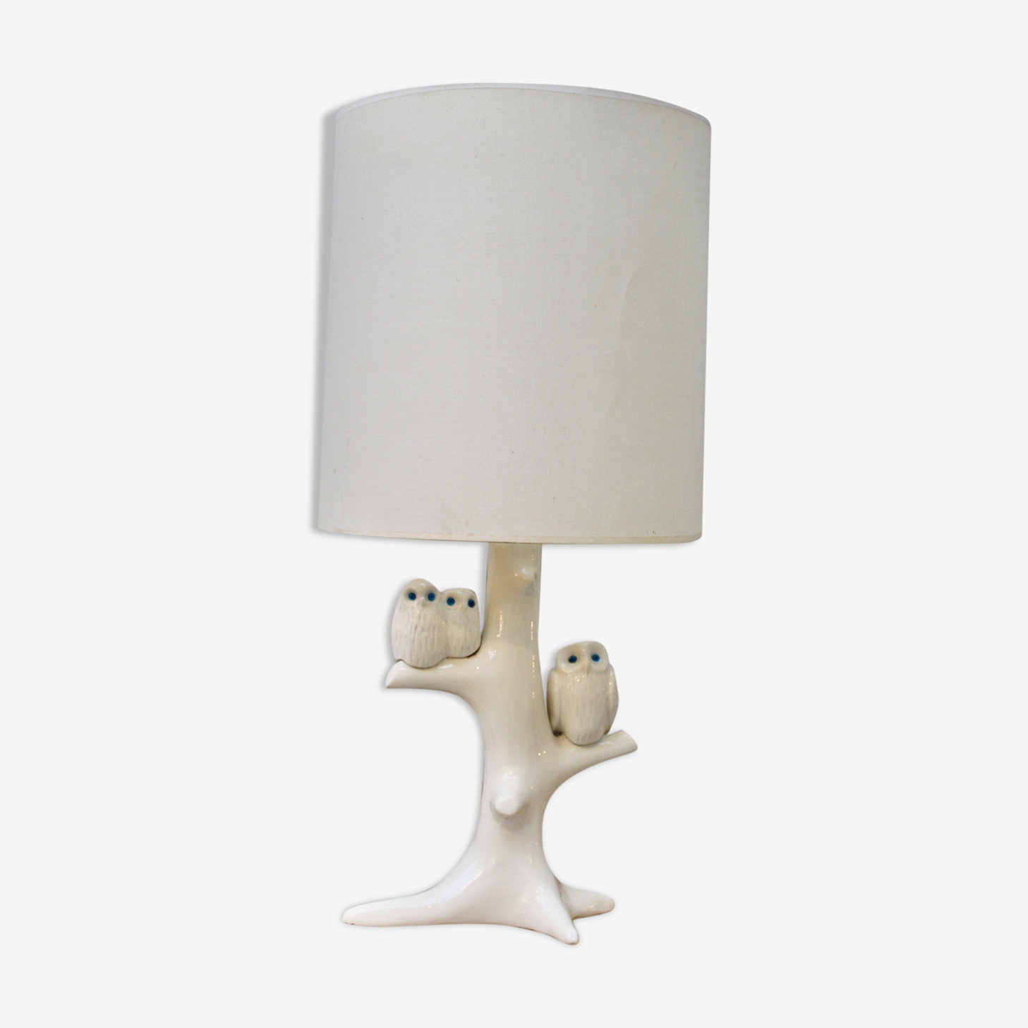 Lampe hiboux en céramique
