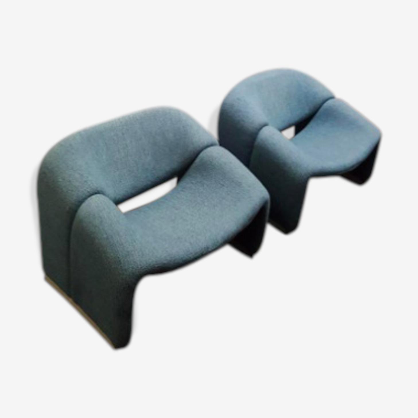 Paire de fauteuils f598 par Pierre Paulin pour Artifort, 1980s,
