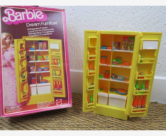 Réfrigérateur Barbie Vintage Ref 2473 complet - plastique - jaune ...