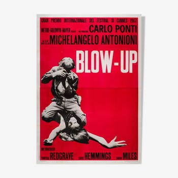 "Affiche originale ""blow up"" Italie 1967"