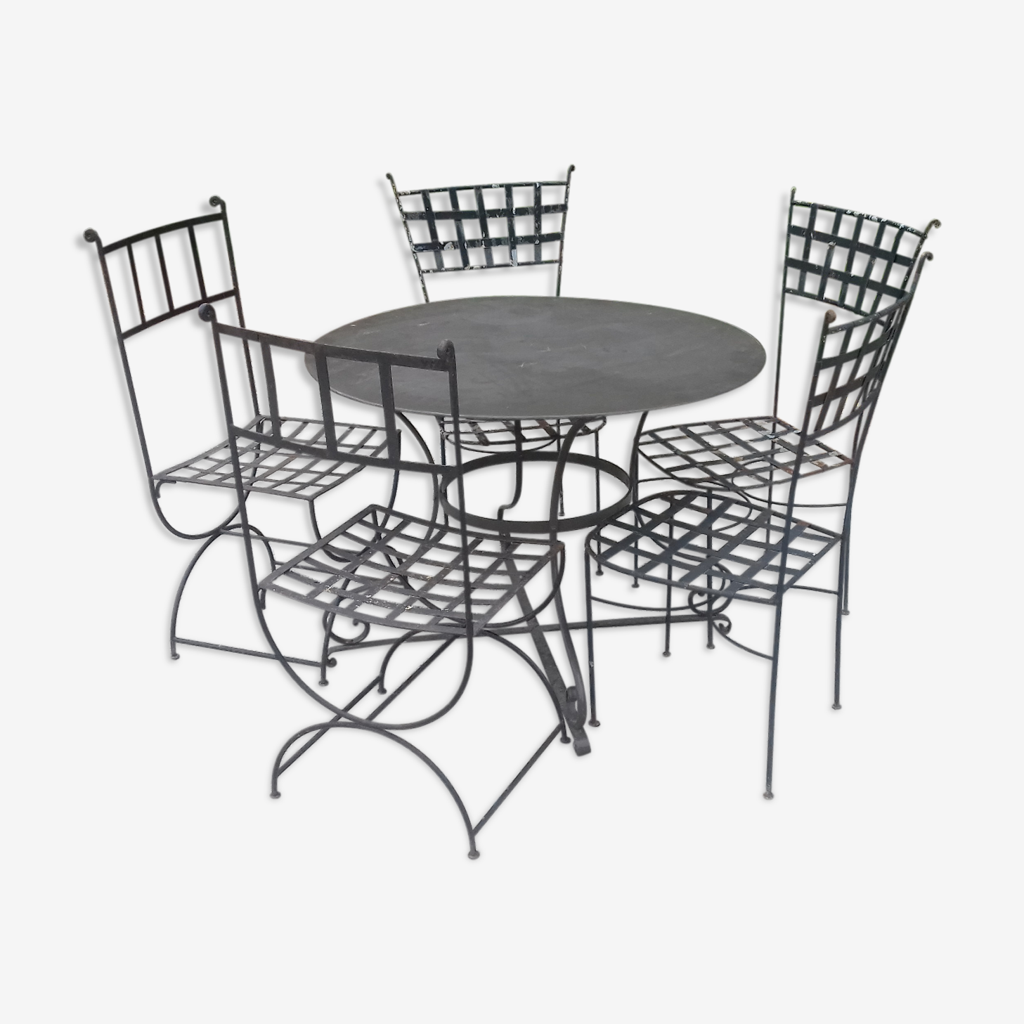 Garden furniture in wrought iron 1900