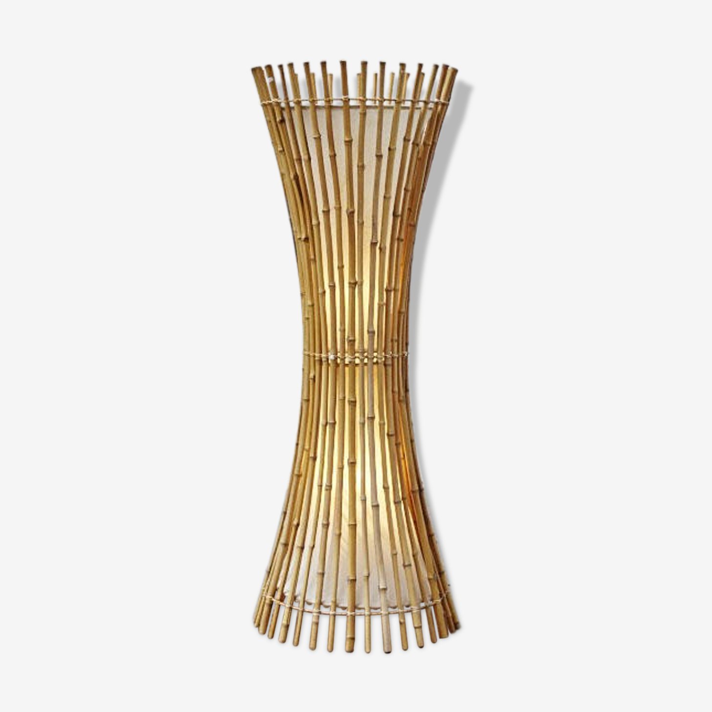 Lampadaire italien en bambou