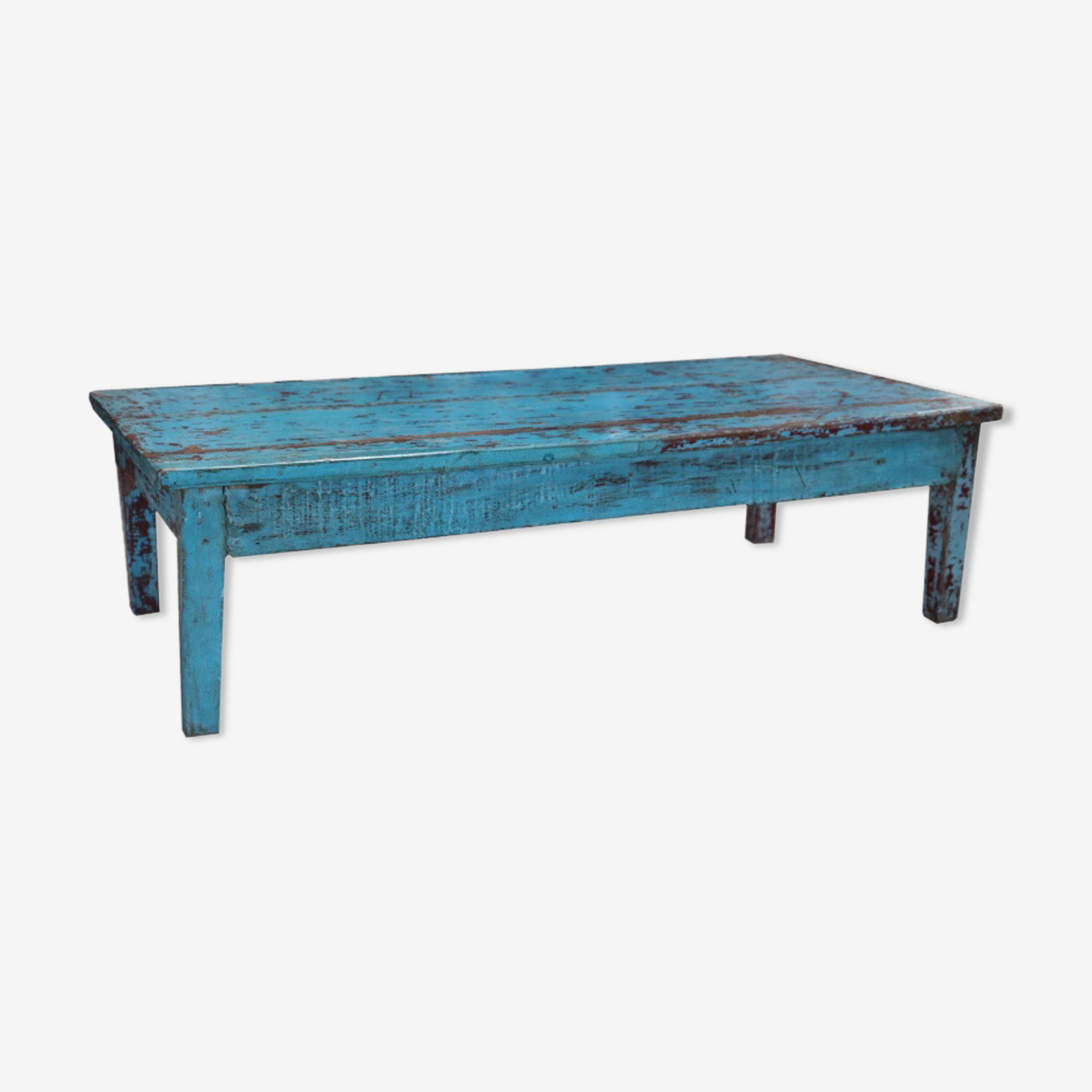 Former bench patina teak wood