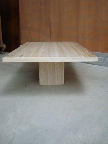 Table basse travertin 1970