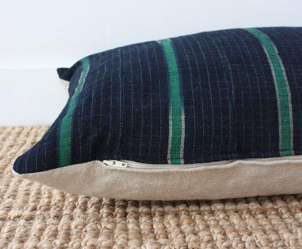 Indigo ethnic cushion cover