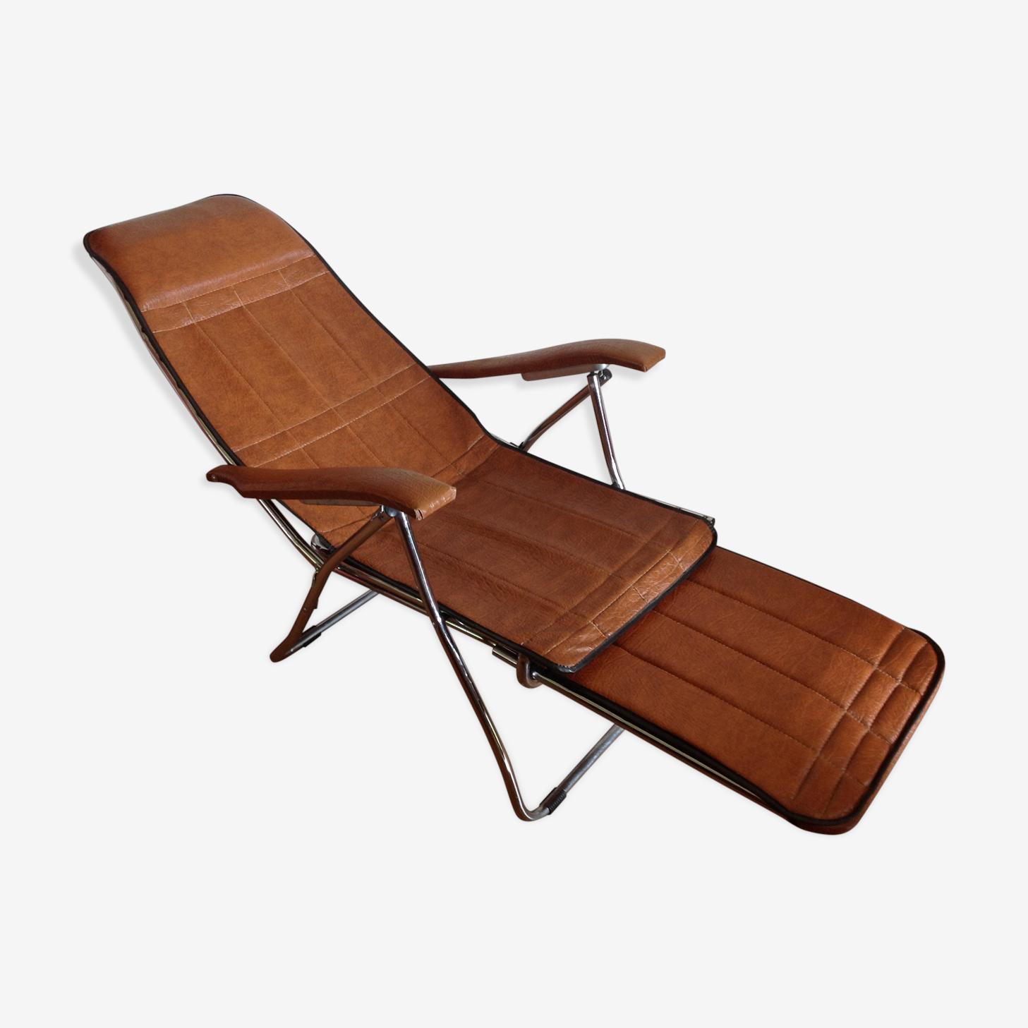 Chaise longue relax skaï vintage