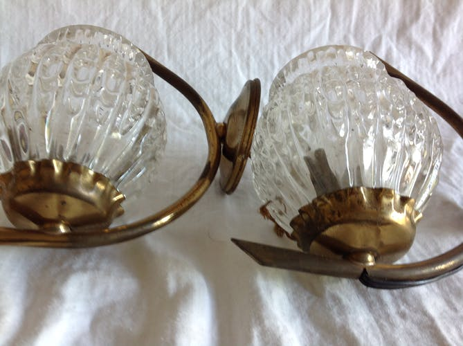 Pair of vintage wall lamps