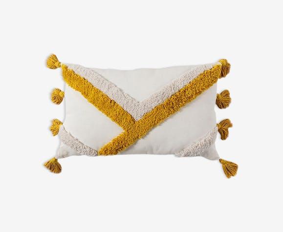 Berber yellow bohemian cushion 30x50 cm