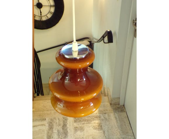 Suspension opaline marron