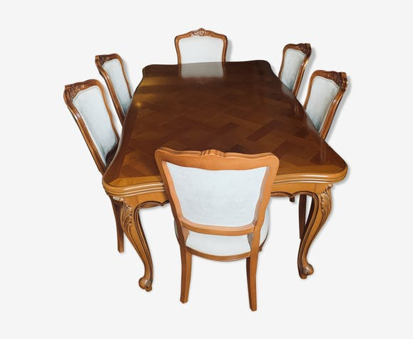 Cherry table - 6 chairs