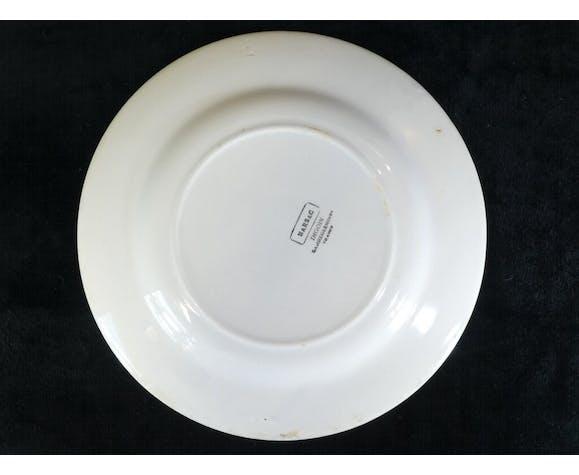 Set de 3 assiettes Digoin Sarreguemines modèle Marsac