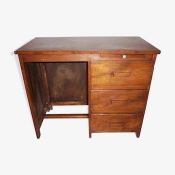 Bureau art déco 1940 50 en bois plein