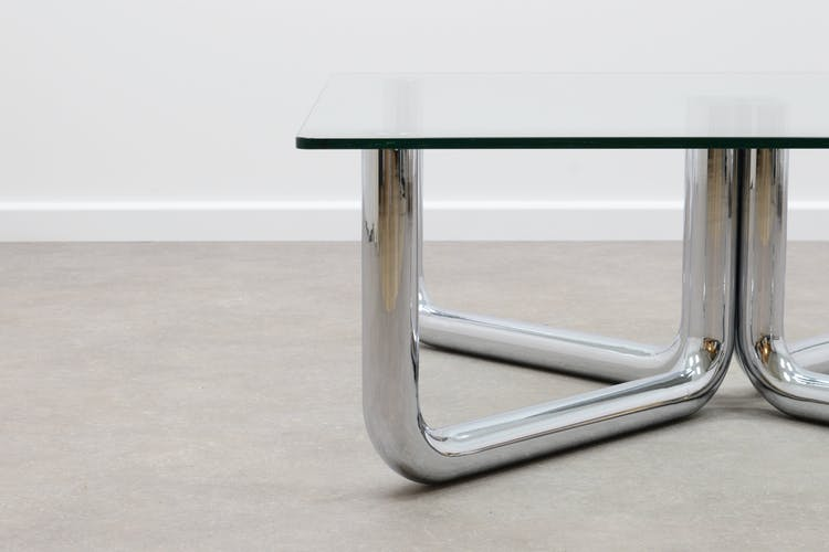 Table basse tubulaire 1970