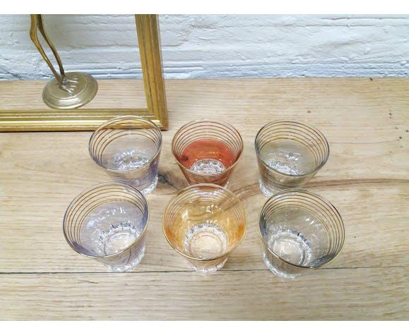Set 6 verres apéritifs années 60