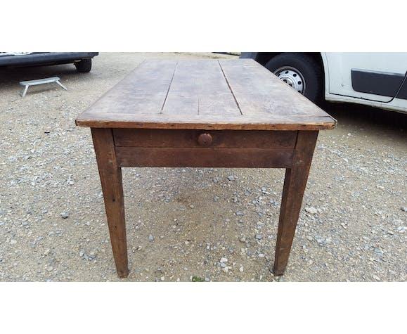 Table De Ferme Ancienne En Chene Pieds Fuseaux Selency