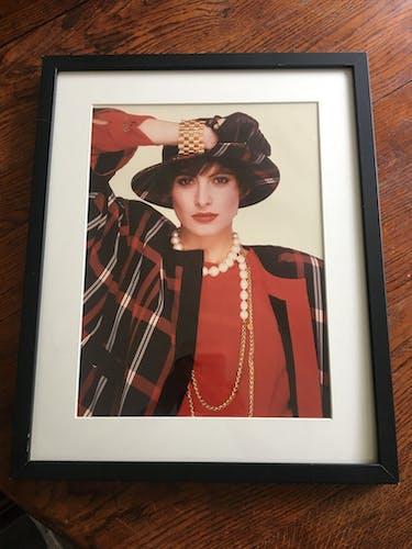 Photographie originale d'Inès de la Fressange par Karl Lagerfeld pour Chanel vintage 1980