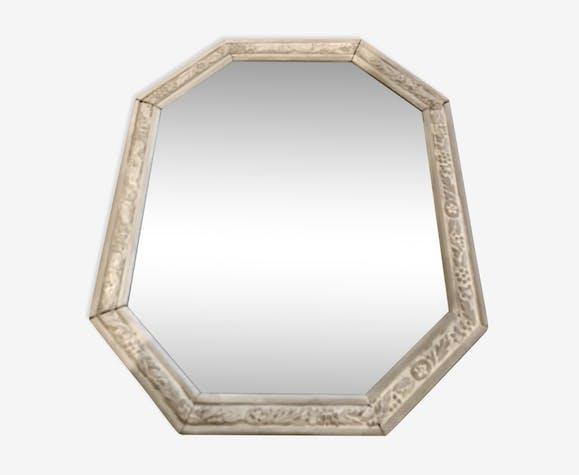 Miroir ancien gris clair