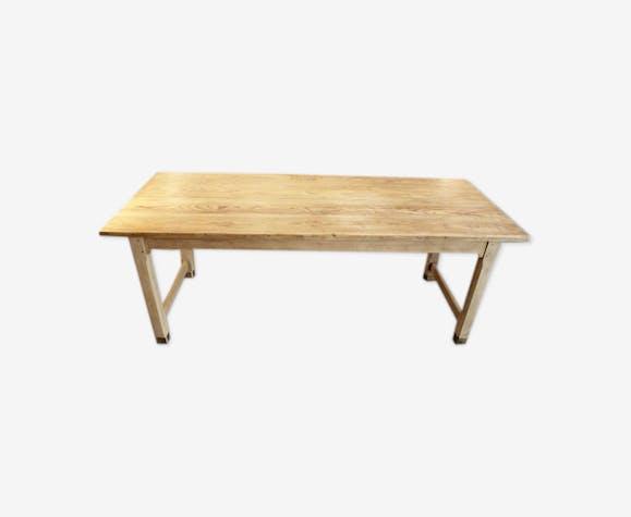 Table à manger en bois de pin années 40