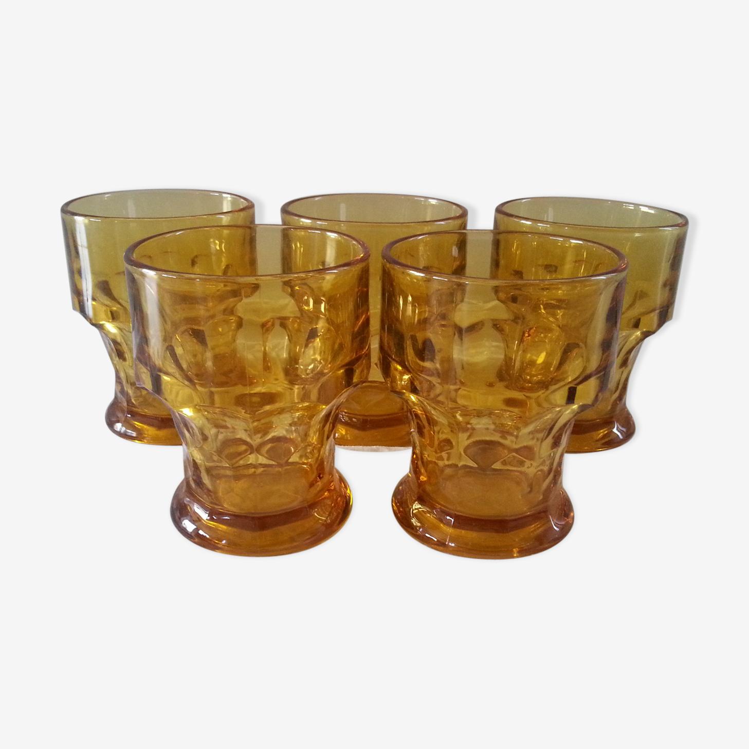 Lot 5 verres vintage