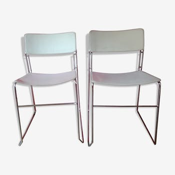 2 leather designer chairs