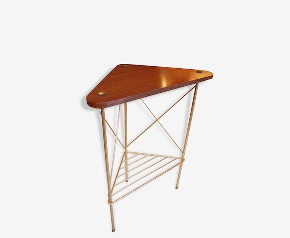 bois métal 50 de vintage chevet d'angle Table métal 60 MVSzpGUq