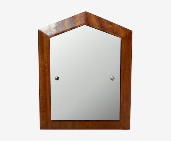 Miroir cadre teck 40x35cm