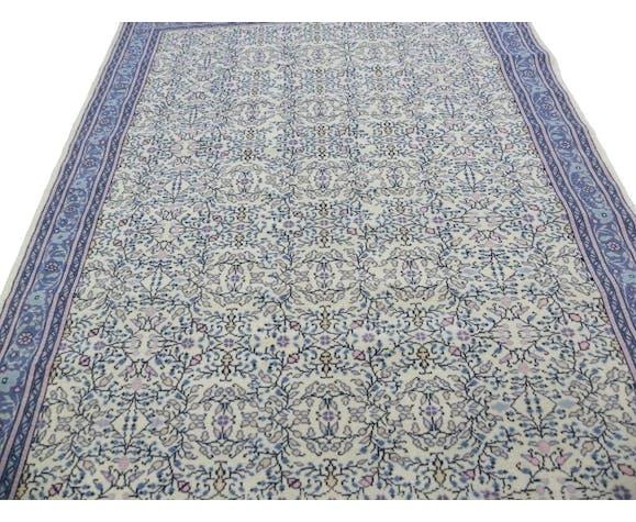 Wool Area Rugs Floral Handknotted Oriental Carpet Selency
