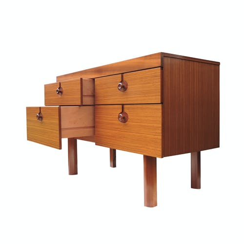 Vintage four drawer chest of drawers, 1960