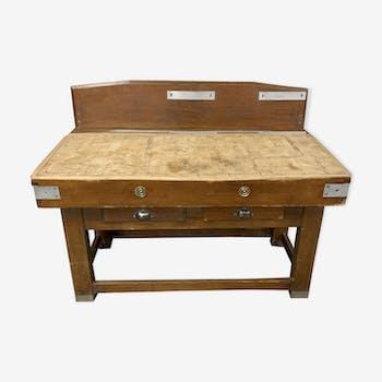 Ancien billot de boucherie meuble de métier