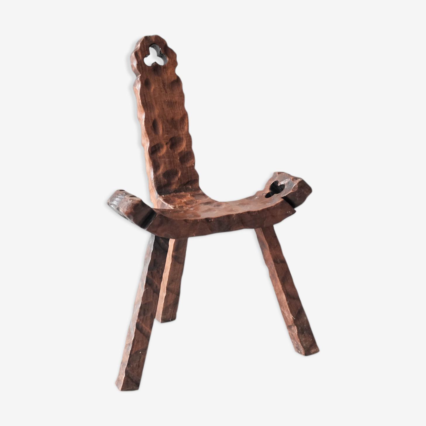 Chaise art populaire - chalet savoyard xxeme siècle