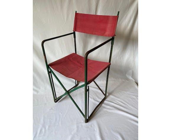 Chaise en métal marque Plianfer