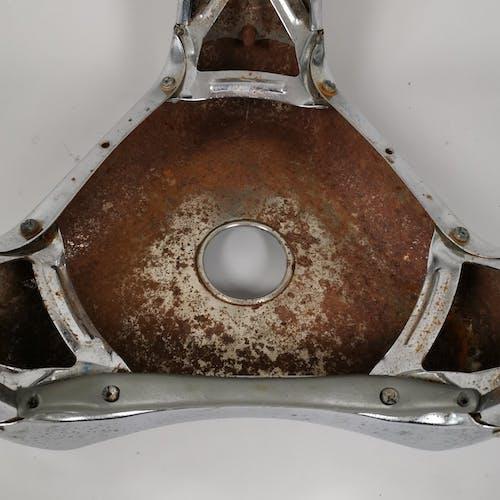 Set of two metal stool design Yasu Sasamoto