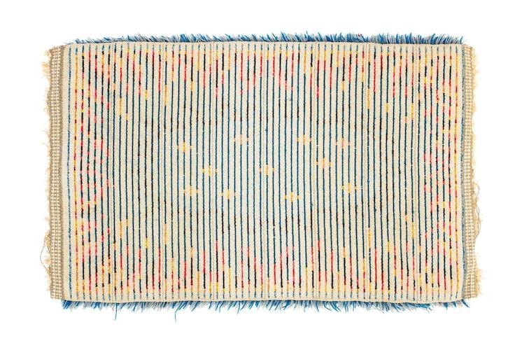 Tapis de rya vintage scandinave du XXe siècle 97 X 60 cm